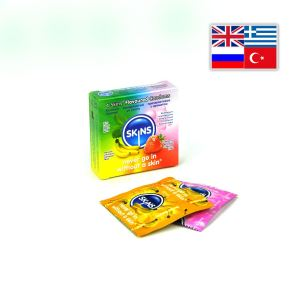 Skins Condoms Flavours 4 Pack International 1