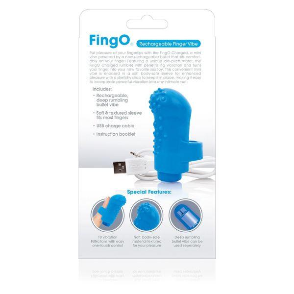 Screaming O Charged FingO Mini Vibe - Blue