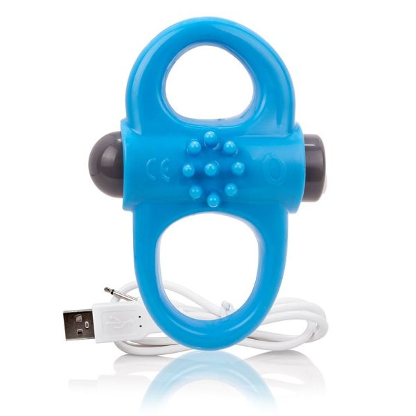Screaming O Charged Yoga Vibrating Cock Ring - Blue