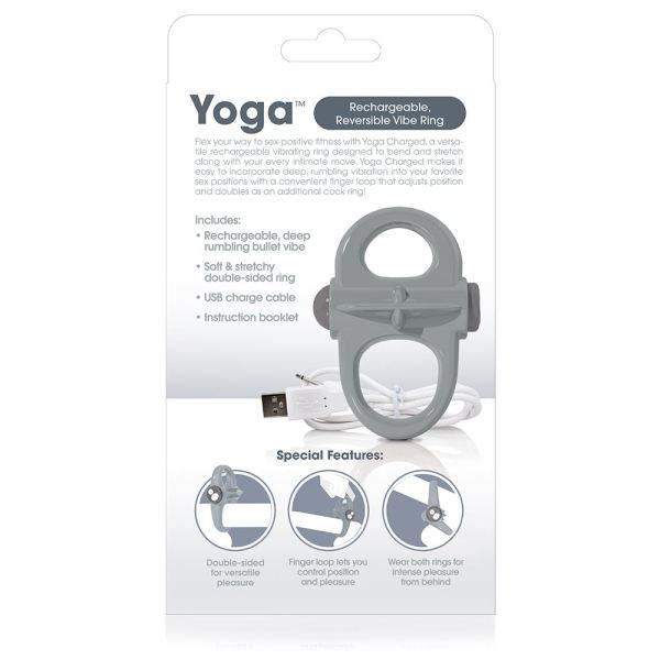 Screaming O Charged Yoga Vibrating Cock Ring - Grey