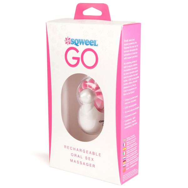 Sqweel Go USB Rechargeable Oral Sex Massager White