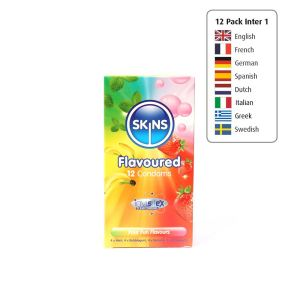 Skins Condoms Flavours 12 Pack International 1