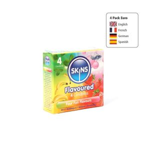 Skins Condoms Flavours 4 Pack Euro 1