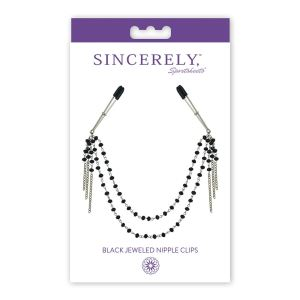 Sincerely Black Jewelled Nipple Clips