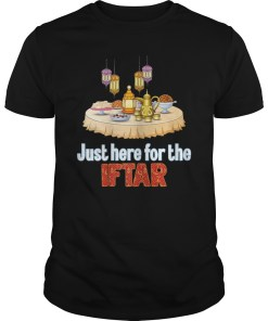 Just Here For The Iftar Funny Islamic T Shirt