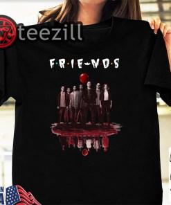 Friends tv show IT chapter two characters friends reflection halloween shirt