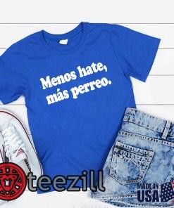 J Balvin Menos Hate Más Perreo Negra Blue Shirt