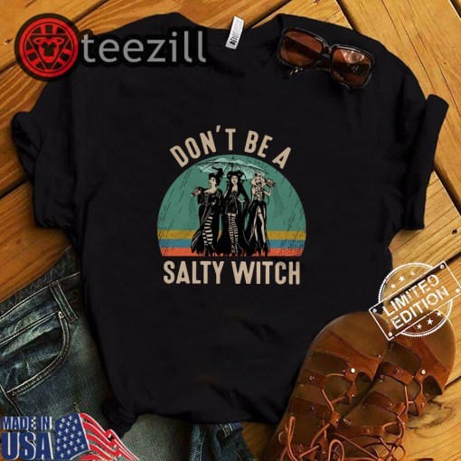 Vintage halloween don't be a salty witch hocus pocus shirt