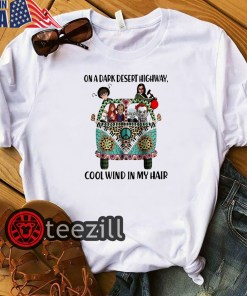 Halloween Funny On a dark desert highway cool wind in my hair Stephen King characters shirt