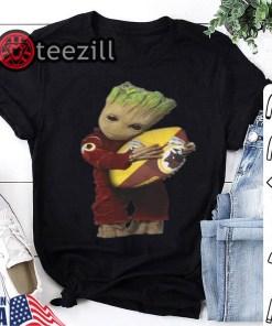 NFL Ball Shirt Baby Groot hug Washington Redskins Tshirt