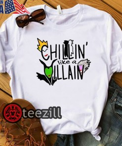 Halloween Chilln' Like A Villain Shirt