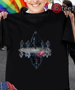 Anakin Skywalker water mirror reflection Darth Vader Star wars t-shirts