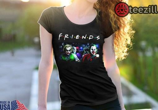 Men's Joker Team driving car Friends TV Show TShirt Classic
