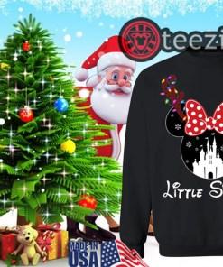 Reindeer Minnie Little Sister Disney Castle Family Christmas Shirt