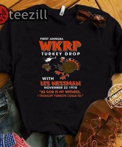First annual wkrp Turkey drop with les nessman november 22 1978 tshirt