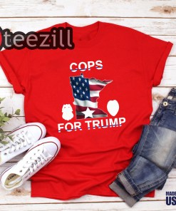 Minneapolis police union sells 'Cops for Trump' shirts