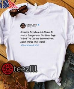 Lebron James Injustice Anywhere Classic TShirt