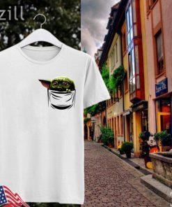 Baby Yoda shirt The Mandalorian Shirt Pocket Tshirt