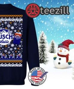 Busch Latte Beer 2D Ugly Christmas Hoodies Shirt