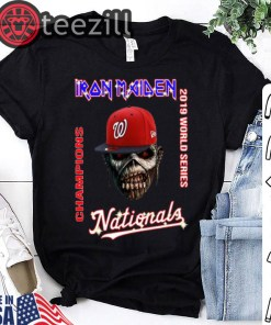 Iron Maiden Washington Nationals World Champions 2019 Tshirt