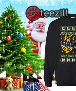 Let's Get Lit Christmas Hanukkah TShirts