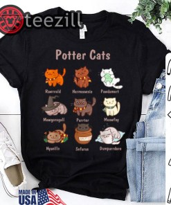 Original Potter Cats, Funny Gifts For Cat Lovers Tshirt
