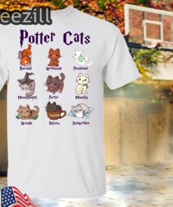 Potter Cats Gift For Cat Lovers Shirts