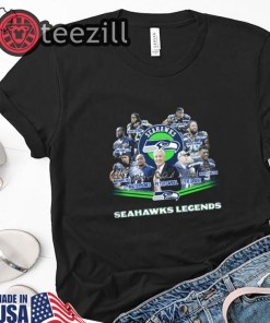 Seattle Seahawks Legends Signatures Tshirt