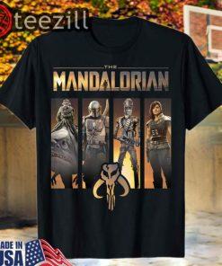 Star Wars 2020 The Mandalorian Group Line Up T-Shirt