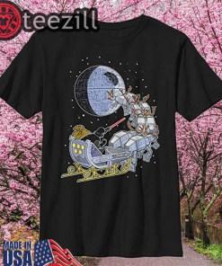 Star Wars Darth Vader Sleigh Deathstar Christmas T-Shirts