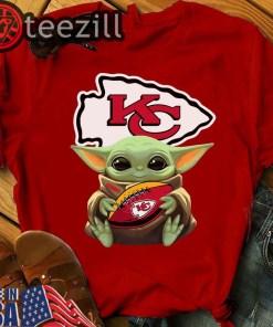 Baby Yoda Hug Kansas City Chiefs Football Shirts