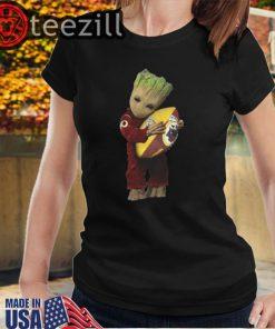Hot Baby Groot hug Washington Redskins NFL Ball Tshirts