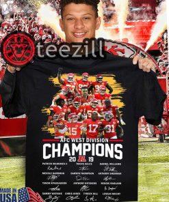Kansas City AFC West Division Champions 2019 Signature Shirt