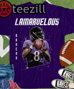 Lamar-8 Jackson Quarterback Lamarvelous T-shirts