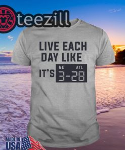 Live Each Day Like It's Superbowl Football T-Shirt