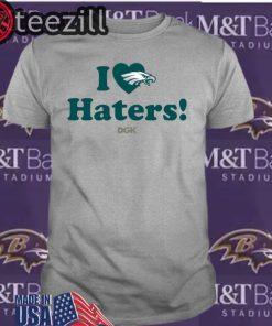 Logo Rick Lovato I Love Haters Eagles Shirt