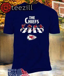 NFL Football Kansas City Chiefs The Beatles Rock Band T-Shirt