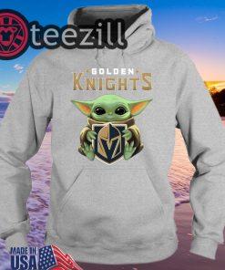 Official Golden Knights Hug Baby Yoda Shirt