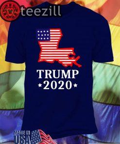 Trump 2020 GOP LA State Map Shirt
