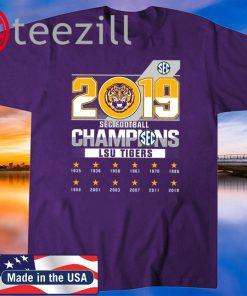 2019 Sec Football Champions LSU Tigers TShirt