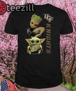 Baby Yoda And Baby Groot Hug Knights T-Shirt