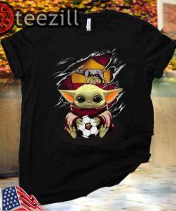 Baby Yoda Blood Inside As Roma Classic Tshirt
