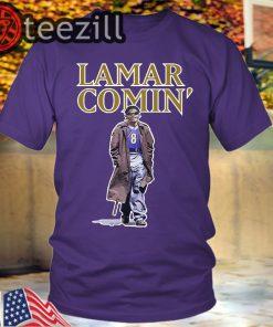Lamar Jackson Lamar Comin' T Shirt