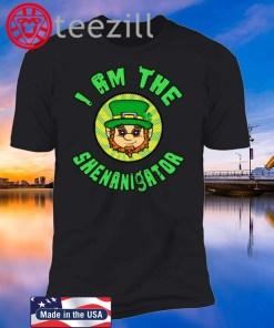 St Patrick's Day - I Am The Shenanigator Leprechaun Tshirt