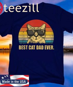 Best Cat Dad Ever Vintage Cat Father 2020 Shirt