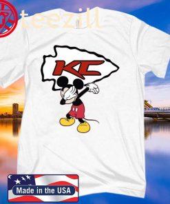 Dabbing Mickey Funny Love Kansas City Chiefs America Football T-Shirts