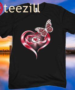 Great Butterfly Heart Love Kansas City Chiefs Shirt