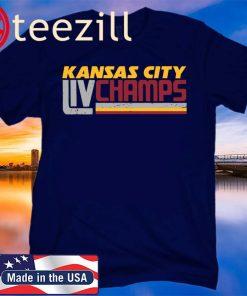 Kansas City LIV Champs Kansas City Football TShirts