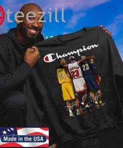 Kobe Bryant Michael Jordan LeBron James Officially T Shirt