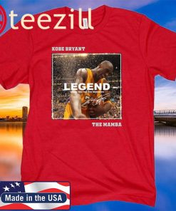 Kobe Bryant The Mamba Legend thank you for the memories signature t-shirt